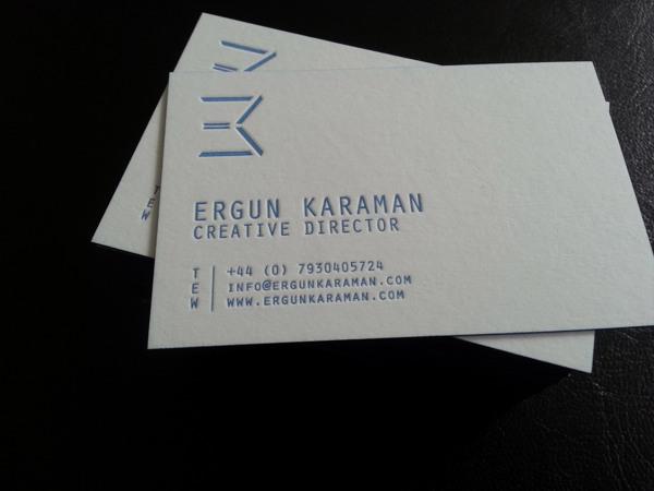 Print business card designs letterpress ergun karaman digital business card designs letterpress reheart Gallery